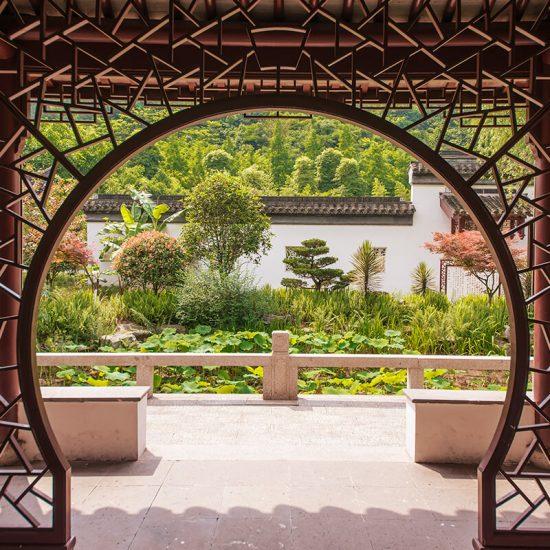 puerta templo chino