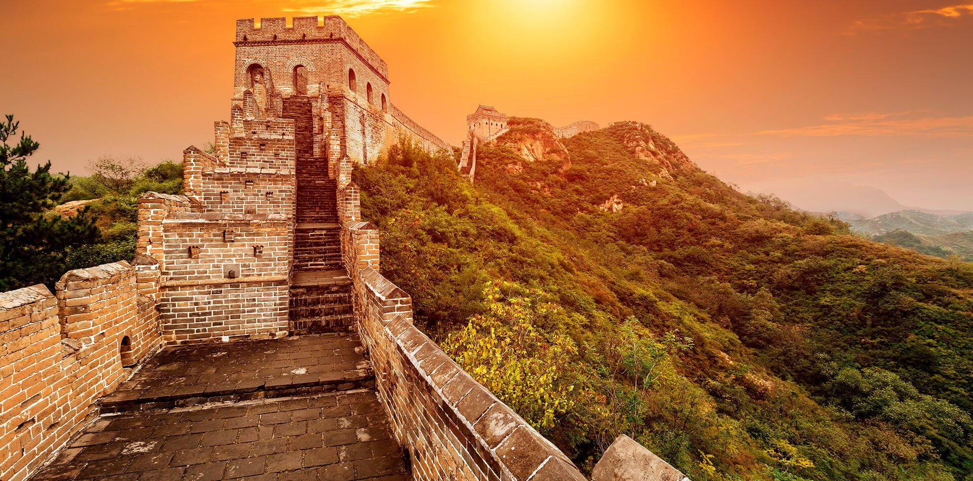 china ruta del dragón sunset nature muralla china sol paisaje
